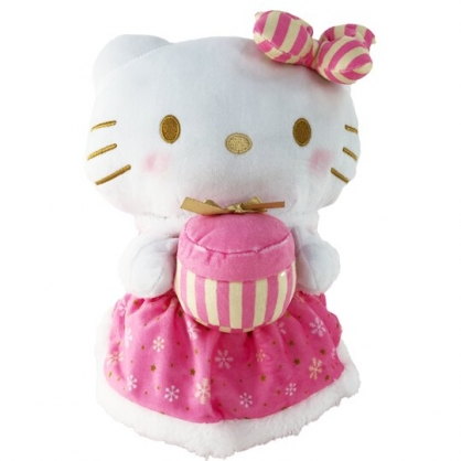 小禮堂 Hello Kitty 旋轉蓋不鏽鋼保溫瓶 附玩偶水壺包 兒童水壺 隨身瓶 斜背包 (粉)