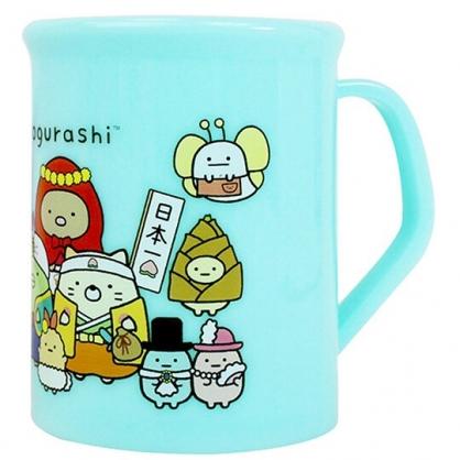 小禮堂 角落生物 單耳塑膠杯 兒童水杯 漱口杯 小水杯 300ml (綠 童話)