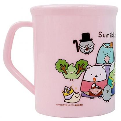 小禮堂 角落生物 單耳塑膠杯 兒童水杯 漱口杯 小水杯 300ml (粉 童話)