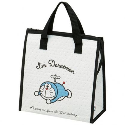 小禮堂 哆啦A夢 方形不織布保冷便當袋 保冷提袋 野餐袋 手提袋 (黑白 初期)