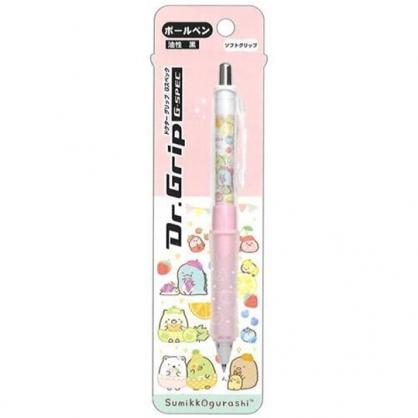 小禮堂 角落生物 日製 原子筆 黑筆 自動筆 油性筆 0.5mm Dr.Grip減壓 (粉 水果)