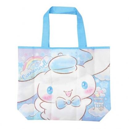 小禮堂 大耳狗 折疊尼龍環保購物袋 環保袋 側背袋 手提袋 (白 大臉)