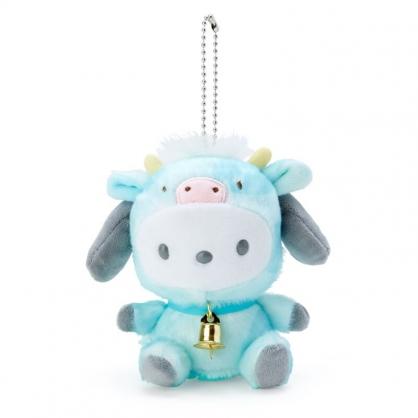 小禮堂 帕恰狗 絨毛吊飾 生肖吊飾 玩偶吊飾 玩偶鑰匙圈 (綠 牛牛新年企劃)