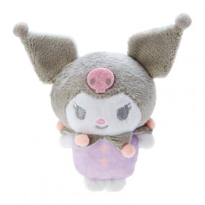 小禮堂 酷洛米 迷你換裝沙包玩偶 換裝娃娃 絨毛玩偶 絨毛娃娃 (紫 連身衣)