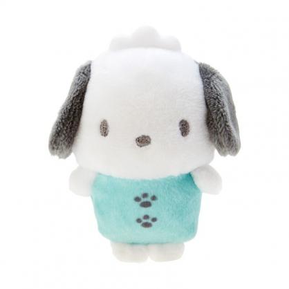 小禮堂 帕恰狗 迷你換裝沙包玩偶 換裝娃娃 絨毛玩偶 絨毛娃娃 (綠 連身衣)