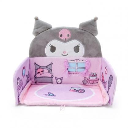 小禮堂 酷洛米 迷你造型絨毛玩偶屋 絨毛娃娃屋 玩偶收納盒 玩偶房間 (紫 大臉)