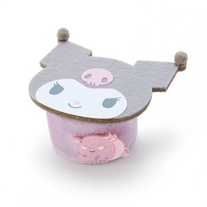 小禮堂 酷洛米 迷你造型絨毛玩偶桌 布偶桌 玩偶配件 玩偶展示 (紫 大臉)