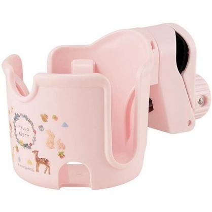 小禮堂 Hello Kitty 嬰兒車用飲料杯架 旋轉杯架 寶特瓶架 夾式杯架 (粉 動物)