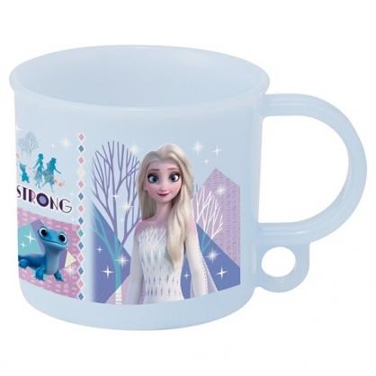 小禮堂 迪士尼 冰雪奇緣 日製 單耳塑膠杯 兒童水杯 漱口杯 小水杯 200ml Ag+ (藍 禮服)