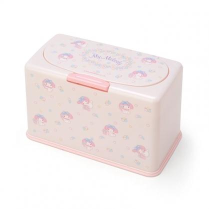 小禮堂 美樂蒂 方形按壓彈蓋口罩盒 塑膠口罩盒 口罩收納盒 面紙盒 (粉 滿版)