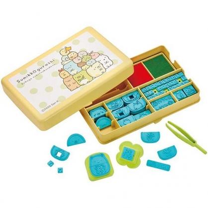 小禮堂 角落生物 DIY造型印章玩具組 附印泥 塑膠印章 玩具章 手帳印章 (黃 點點)