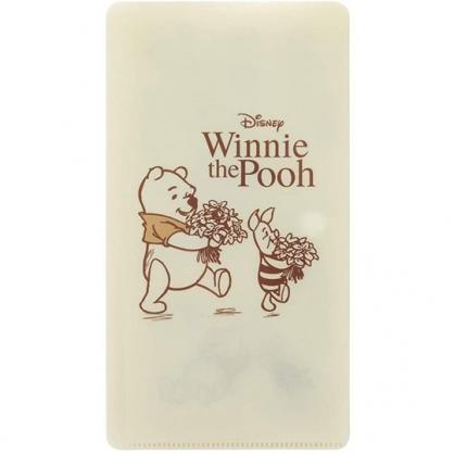 小禮堂 迪士尼 小熊維尼 扣式口罩夾 面紙包 口罩包 口罩套 口罩收納 (米 花束)