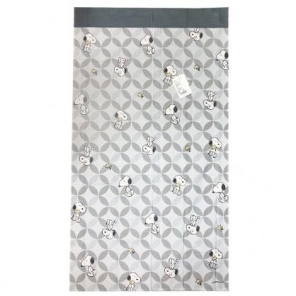 小禮堂 史努比 日製 棉麻長門簾 窗簾 遮光簾 85x150cm (灰 圓形紋)