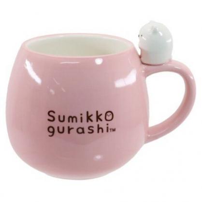 小禮堂 角落生物 北極熊 造型陶瓷馬克杯 胖胖杯 咖啡杯 陶瓷杯 (粉 杯邊玩偶)