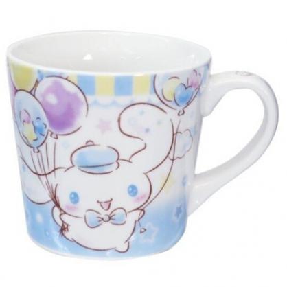 小禮堂 大耳狗 陶瓷馬克杯 寬口杯 咖啡杯 陶瓷杯 (藍白 汽球)