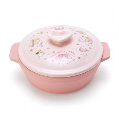 小禮堂 美樂蒂 雙耳耐熱陶瓷鍋 附蓋 土鍋 沙鍋 湯鍋 燉鍋 1000ml (粉 陶器餐廚)