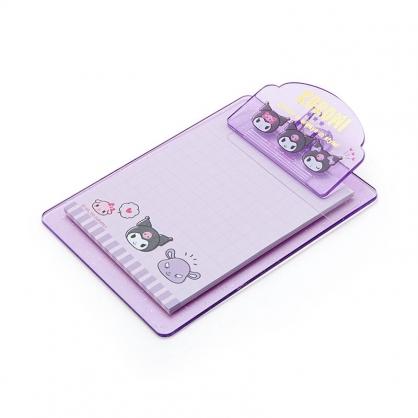 小禮堂 酷洛米 迷你塑膠文件板夾 附便條紙 便條夾 留言板夾 (紫 大臉文具)