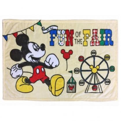 小禮堂 迪士尼 米奇 法蘭絨毛毯披肩 單人毯 薄毯 蓋毯 70x100cm (米 摩天輪)