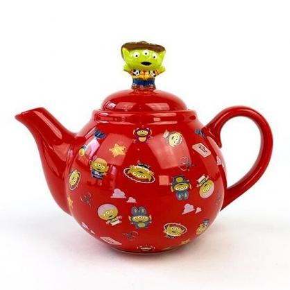 小禮堂 迪士尼 三眼怪 造型陶瓷茶壺 咖啡壺 飲料壺 水壺 350ml (紅 變裝)