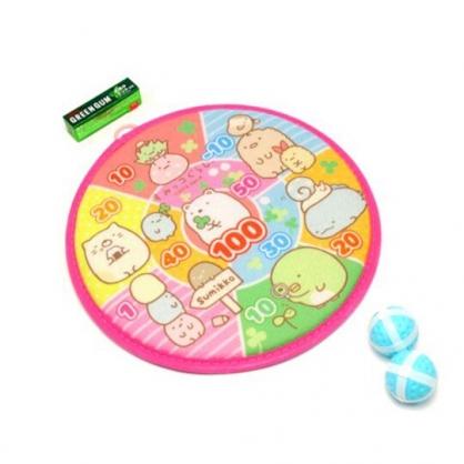 小禮堂 角落生物 圓形飛鏢玩具組 飛鏢球盤 投球玩具 戶外玩具 (桃 幸運草)