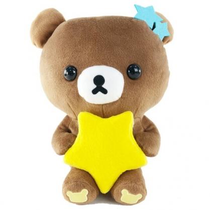 小禮堂 懶懶熊 絨毛玩偶造型小夜燈 發光玩偶 玩偶燈 床頭燈 夜光燈 (深棕 星星)