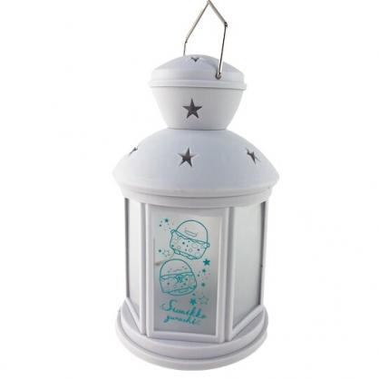 小禮堂 角落生物 復古造型塑膠小夜燈 床頭燈 露營燈 夜光燈 (白 睡衣)