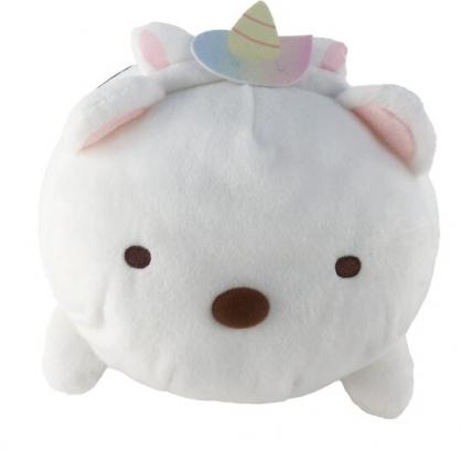 小禮堂 角落生物 北極熊 造型絨毛抱枕 絨毛靠枕 絨毛玩偶 午睡枕 (白 造型帽)