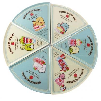 小禮堂 角落生物 可拆式美耐皿圓形比薩盤 三角比薩盤 水果盤 塑膠餐盤 (綠)