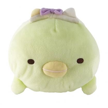 小禮堂 角落生物 企鵝 造型絨毛抱枕 絨毛靠枕 絨毛玩偶 午睡枕 (綠 造型帽)