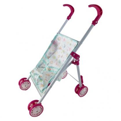 小禮堂 角落生物 折疊絨毛玩偶推車 娃娃推車 購物推車 玩具推車 (藍)