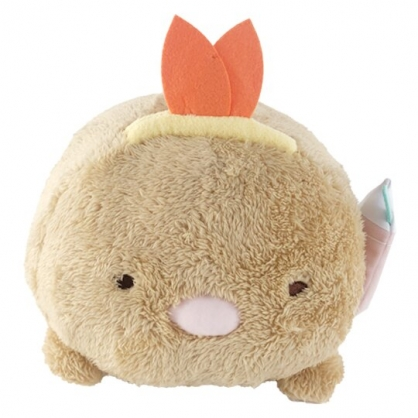 小禮堂 角落生物 豬排 造型絨毛抱枕 絨毛靠枕 絨毛玩偶 午睡枕 (棕 造型帽)