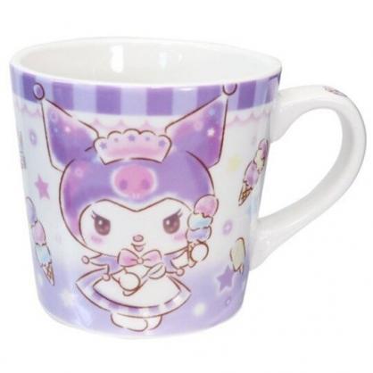 小禮堂 酷洛米 陶瓷馬克杯 寬口杯 咖啡杯 陶瓷杯 (紫 冰淇淋)