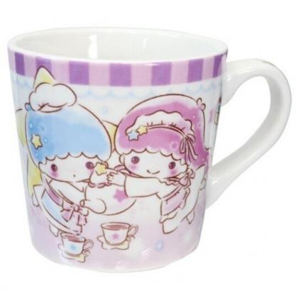 小禮堂 雙子星 陶瓷馬克杯 寬口杯 咖啡杯 陶瓷杯 (紫 茶壺)
