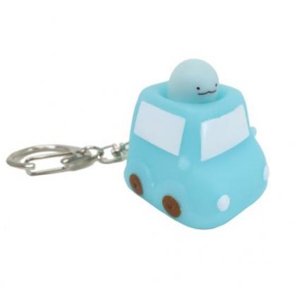 小禮堂 角落生物 恐龍 造型軟膠鑰匙圈 矽膠鑰匙圈 紓壓鑰匙圈 捏捏樂 (藍 汽車)