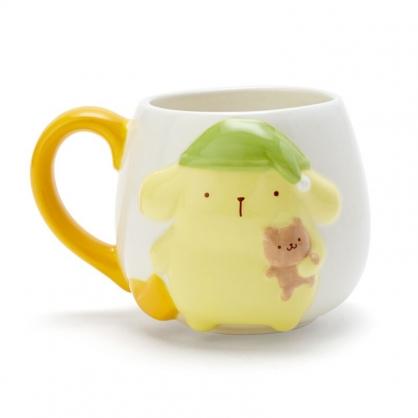 小禮堂 布丁狗 造型陶瓷馬克杯 胖胖杯 咖啡杯 陶瓷杯 (黃 冬夜睡夢)