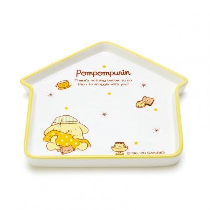 小禮堂 布丁狗 房屋造型陶瓷盤 點心盤 沙拉盤 水果盤 (白 冬夜睡夢)