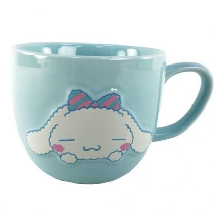 小禮堂 大耳狗 陶瓷馬克杯 胖胖杯 咖啡杯 陶瓷杯 330ml (綠紫 大臉)