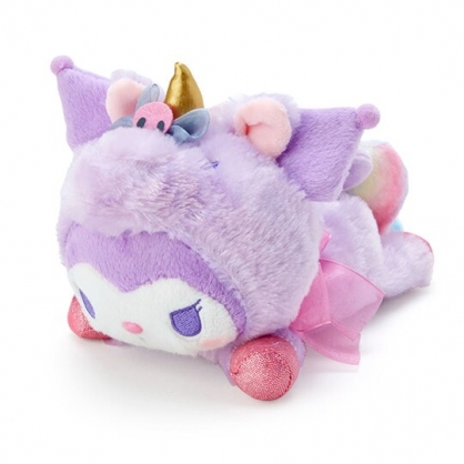 小禮堂 酷洛米 沙包玩偶 絨毛玩偶 絨毛娃娃 小型玩偶 布偶 (紫 糖果獨角獸)