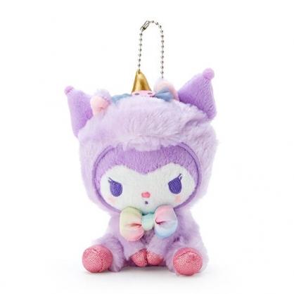 小禮堂 酷洛米 絨毛吊飾 玩偶吊飾 玩偶鑰匙圈 包包吊飾 (紫 糖果獨角獸)
