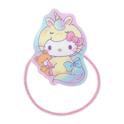 小禮堂 Hello Kitty 造型壓克力彈力髮圈 塑膠髮圈 造型髮圈 手環 (黃 糖果獨角獸)