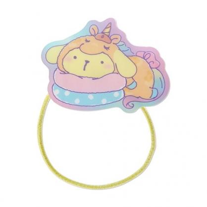 小禮堂 布丁狗 造型壓克力彈力髮圈 塑膠髮圈 造型髮圈 手環 (黃 糖果獨角獸)