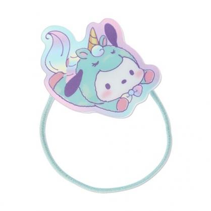 小禮堂 帕恰狗 造型壓克力彈力髮圈 塑膠髮圈 造型髮圈 手環 (綠 糖果獨角獸)