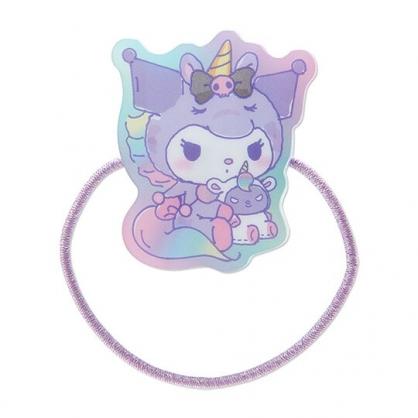 小禮堂 酷洛米 造型壓克力彈力髮圈 塑膠髮圈 造型髮圈 手環 (紫 糖果獨角獸)