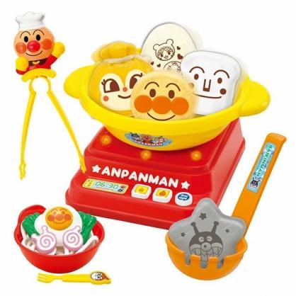 小禮堂 麵包超人 瓦斯爐火鍋玩具組 聲光玩具 廚房玩具 扮家家酒 (紅黃 大臉)