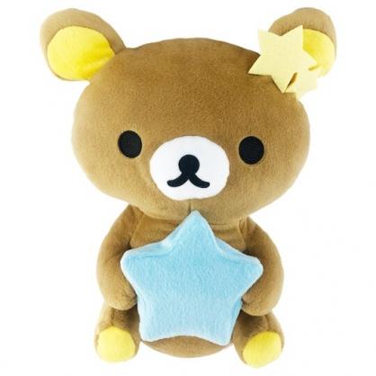 小禮堂 懶懶熊 絨毛玩偶造型小夜燈 發光玩偶 玩偶燈 床頭燈 夜光燈 (淺棕 星星)