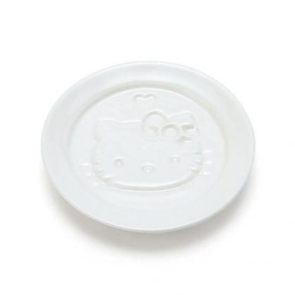 小禮堂 Hello Kitty 圓形陶瓷醬料盤 醬油碟 小菜碟 小碟 (白 陶器餐廚)