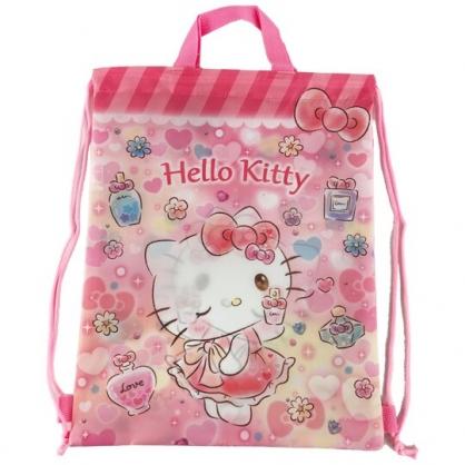 小禮堂 Hello Kitty 尼龍束口後背袋 尼龍手提袋 後背包 束口袋 縮口袋 (紅 香水)