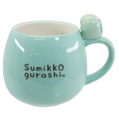 小禮堂 角落生物 恐龍 造型陶瓷馬克杯 胖胖杯 咖啡杯 陶瓷杯 (藍 杯邊玩偶)