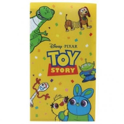 小禮堂 迪士尼 玩具總動員4 日製 塑膠口罩夾 抗菌口罩夾 口罩包 口罩套 (黃 圍繞)