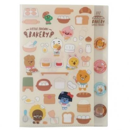 小禮堂 KAKAO Friends 日製 A4分類文件夾 資料夾 檔案夾 L夾 (米 廚師)